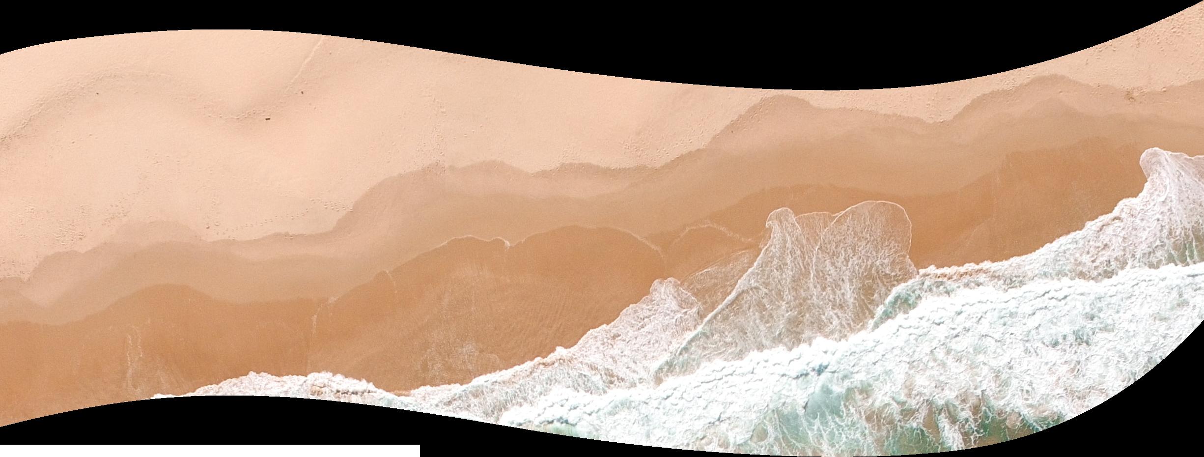 Strand aus Vogelperspektive